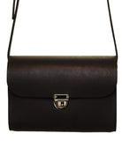 Ranger Black Handmade Womens Small Leather Satchel Cross Body Classic Handbag. Can be personalised with initials.