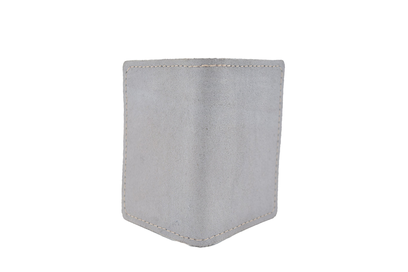 Vintage Grey Unisex Handmade Oyster Travel Card Holder Wallet ID in Leather, Cowhide, Nubuck and Suede