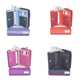 Coral range of dual coloured compact real leather wallets (small)