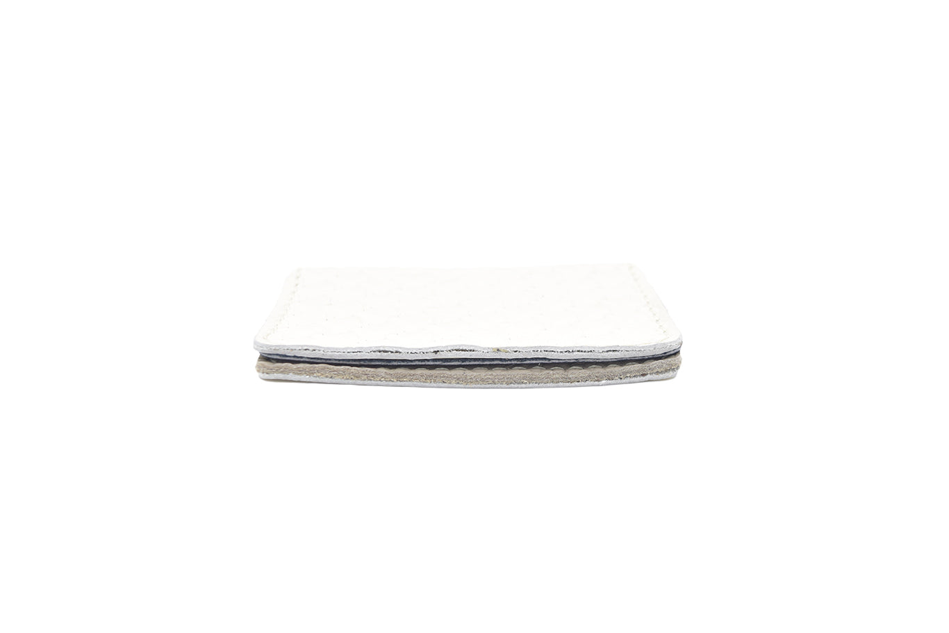 White Unisex Handmade Oyster Travel Card Holder Wallet ID in Leather, Cowhide, Nubuck and Suede