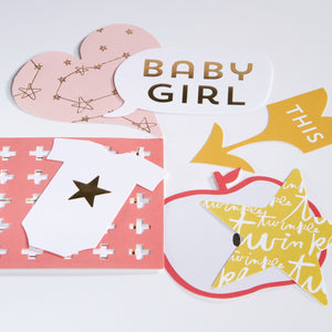 Clara Girl Gold Foil Diecuts