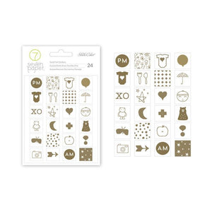 Clara Gold Foil Icons Stickers