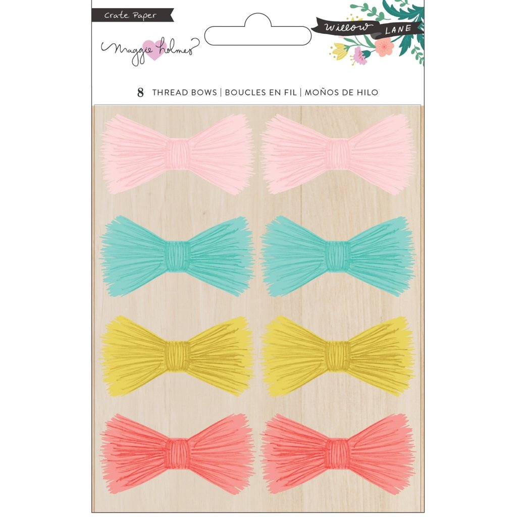 Adhesive Thread Bows Willow Lane