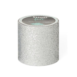 "Glitter Tape  2""  Silver Christmas Marquee Love"