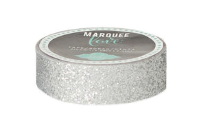 "Glitter Tape 7/8 ""  Silver  Christmas Marquee Love"