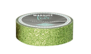 "Glitter Tape  7/8""  Lime Green Christmas Marquee Love"