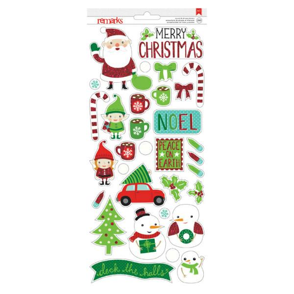 Clear Stickers Holly Jolly