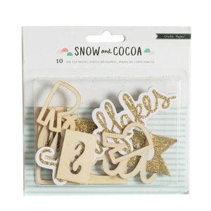 Die Cut Phrases  Snow & Cocoa