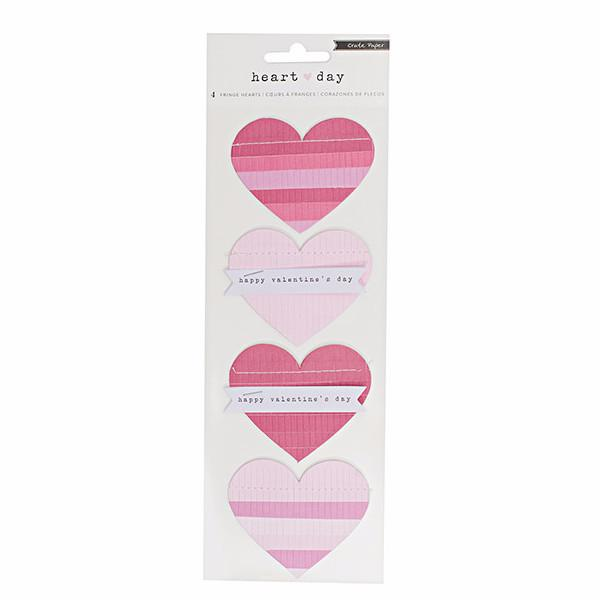 Fringe Hearts Stickers Heart Day
