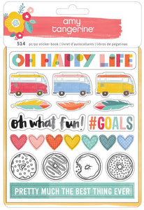 Stickers Book  Oh Happy Life