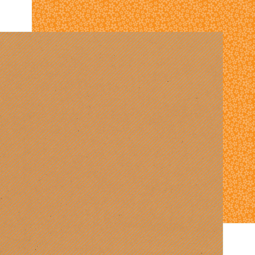 Papel Tangerine Stripe-Flower Kraft in Color