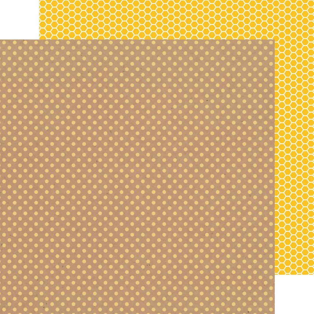 Papel Bumblebee Dot-Honeycomb Kraft in Color