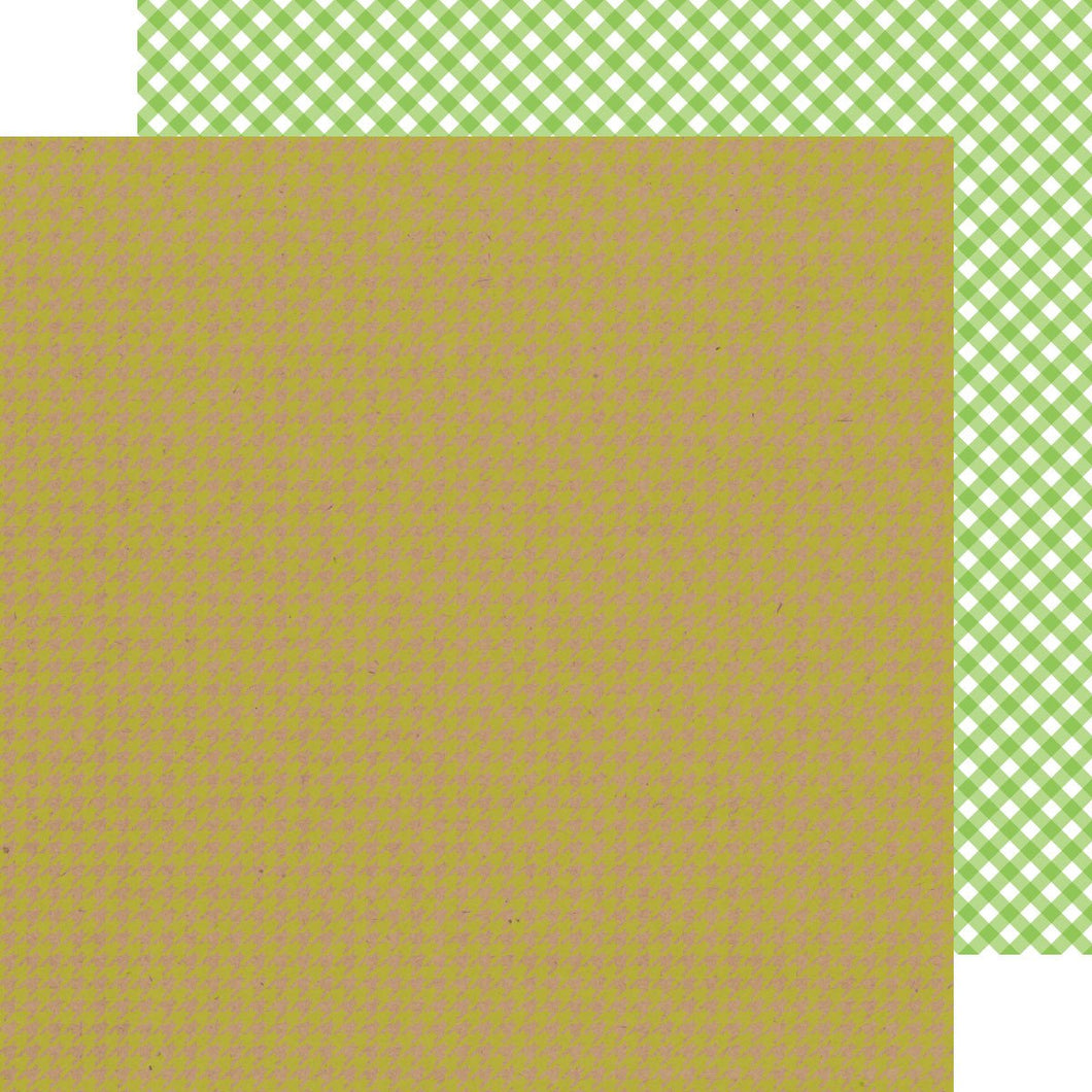 Papel Limeade Houndstooth- Gingham Kraft in Color