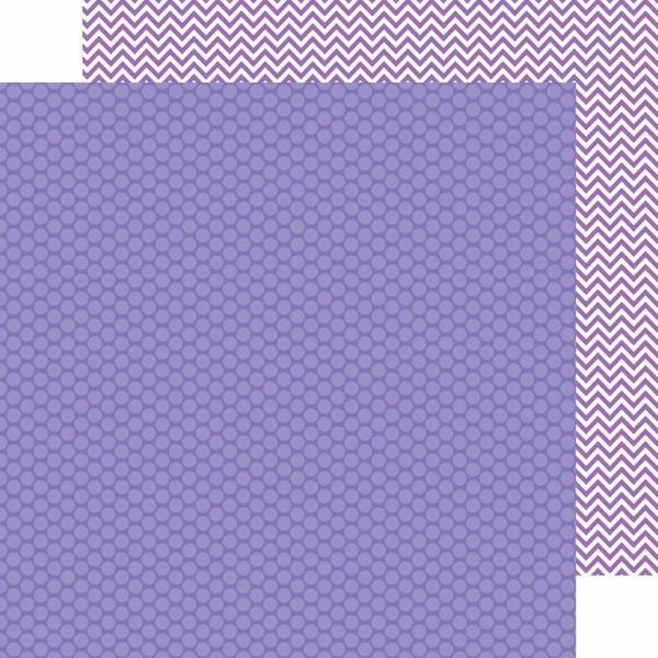 Papel Lilac Dot-Chevron Kraft in Color.