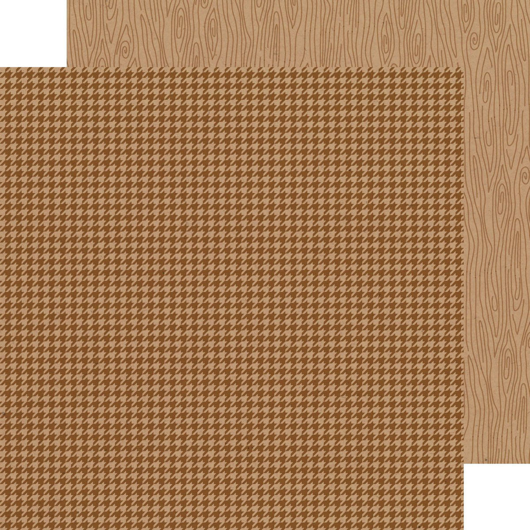 Papel  Bon Bon Houndstooth-Woodgrain Kraft in Color
