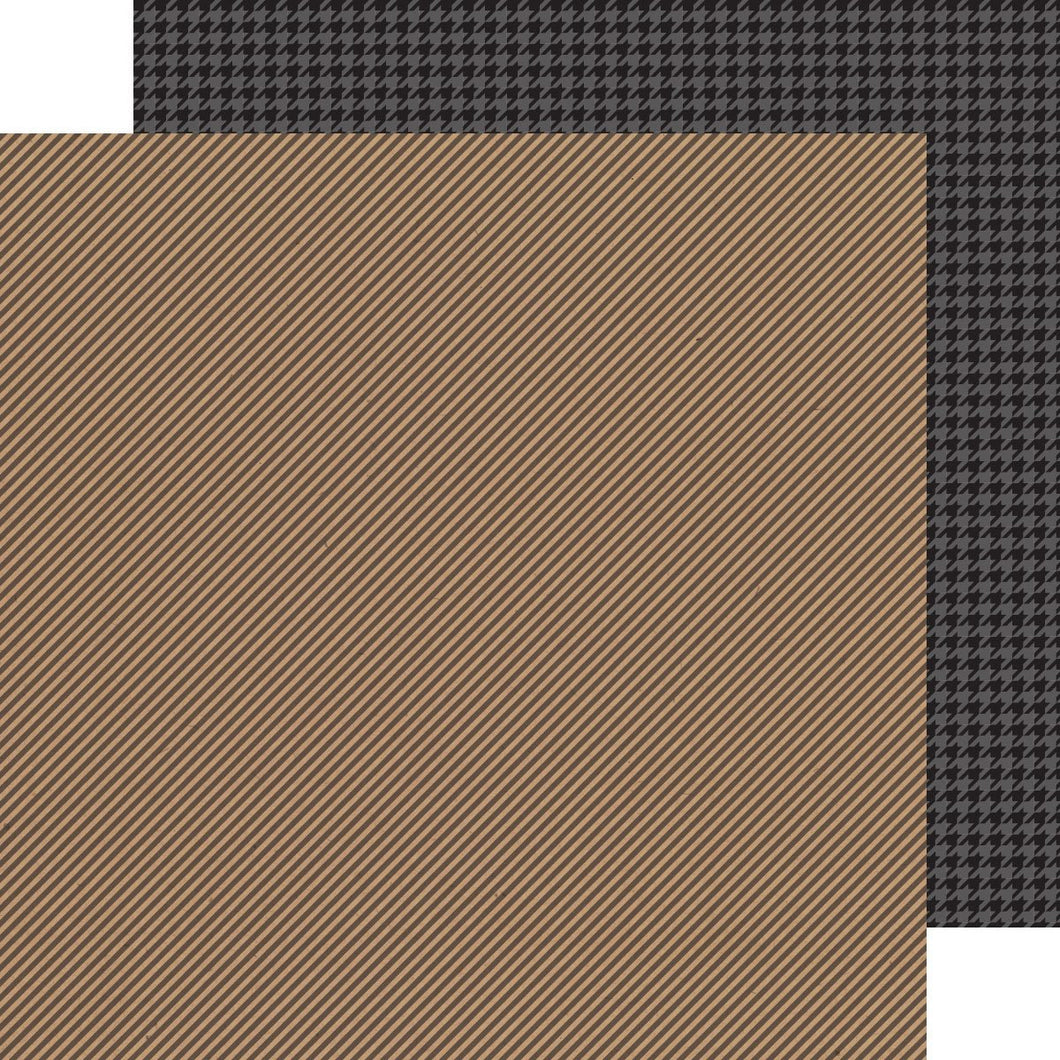Papel Beetle Black Stripe-Houndstooth Kraft in color.
