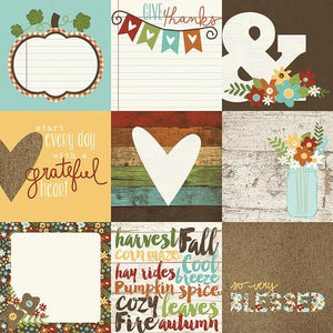 Papel  Pumpkin Spice 4x4 elements