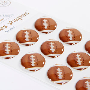 Football Sprinkles Shapes Touchdown
