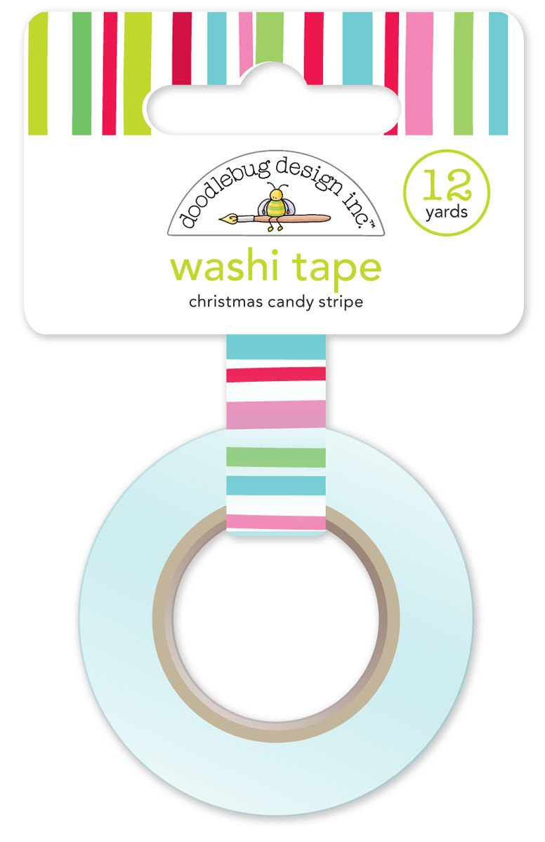 Washi Tape Christmas Candy Stripe Here Comes Santa Claus