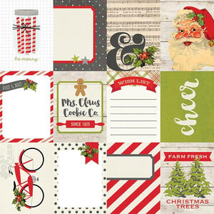 Papel 3x4 Journaling Card Claus and Co