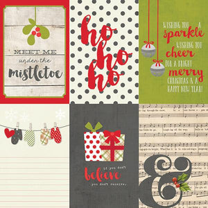 Papel  4x6 Vertical Journaling Card Claus and Co