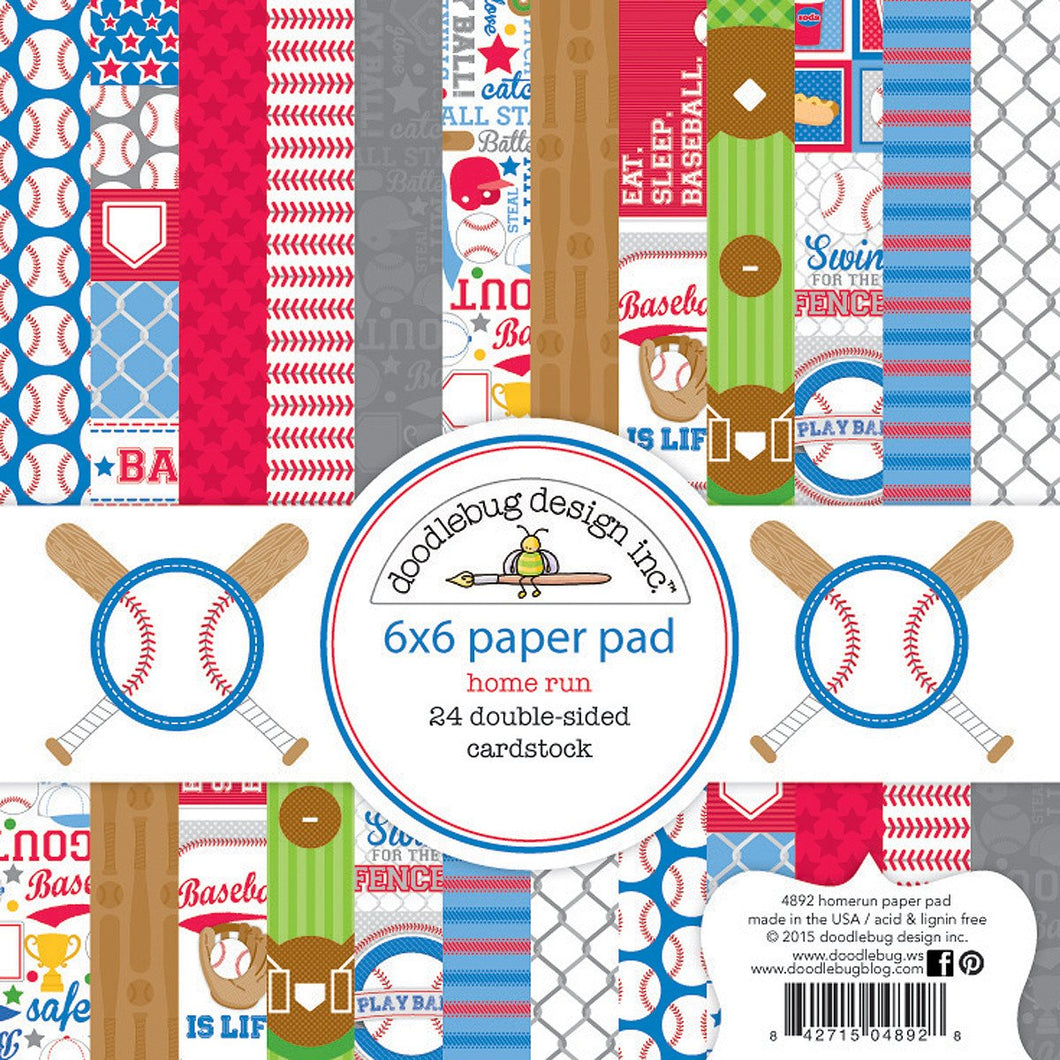 Mini Paper Pad Home Run