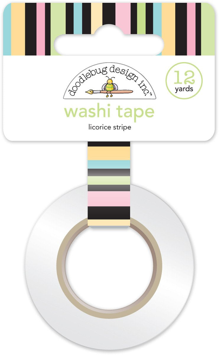 Washi Tape Licorice Stripe Kitten Smitten