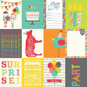 Papel 3 x 4 Journaling Card Elements Let´sParty