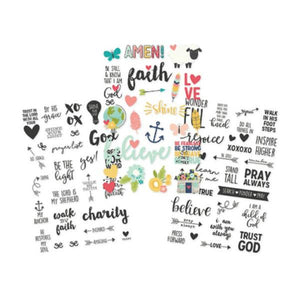Clear Stickers Faith