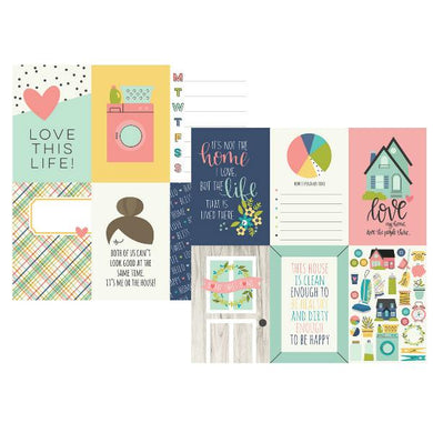 Papel  10x15 Vertical Journaling Cards  Domestic Bliss