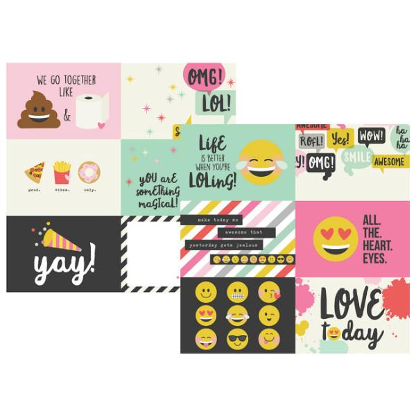 Papel Horizontal Journaling Cards 10x15 Emoji Love