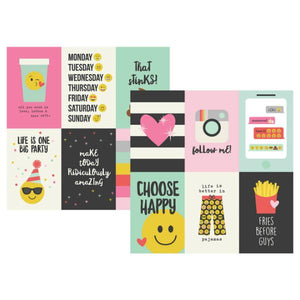 Papel  Vertical Journaling Cards 10x15 Emoji Love