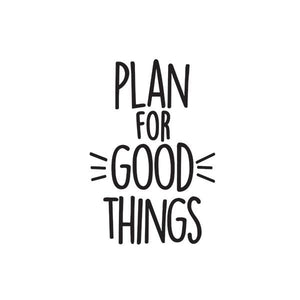 Good Things Black Planner Decal (Vinilo para planner)