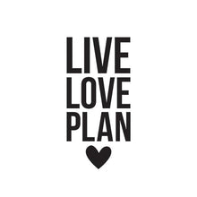 Live Love Plan Black Planner Decal (Vinilo para planner)