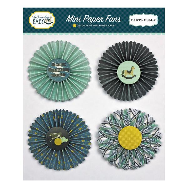 Mini Paper Fans Rock A Bye Boy