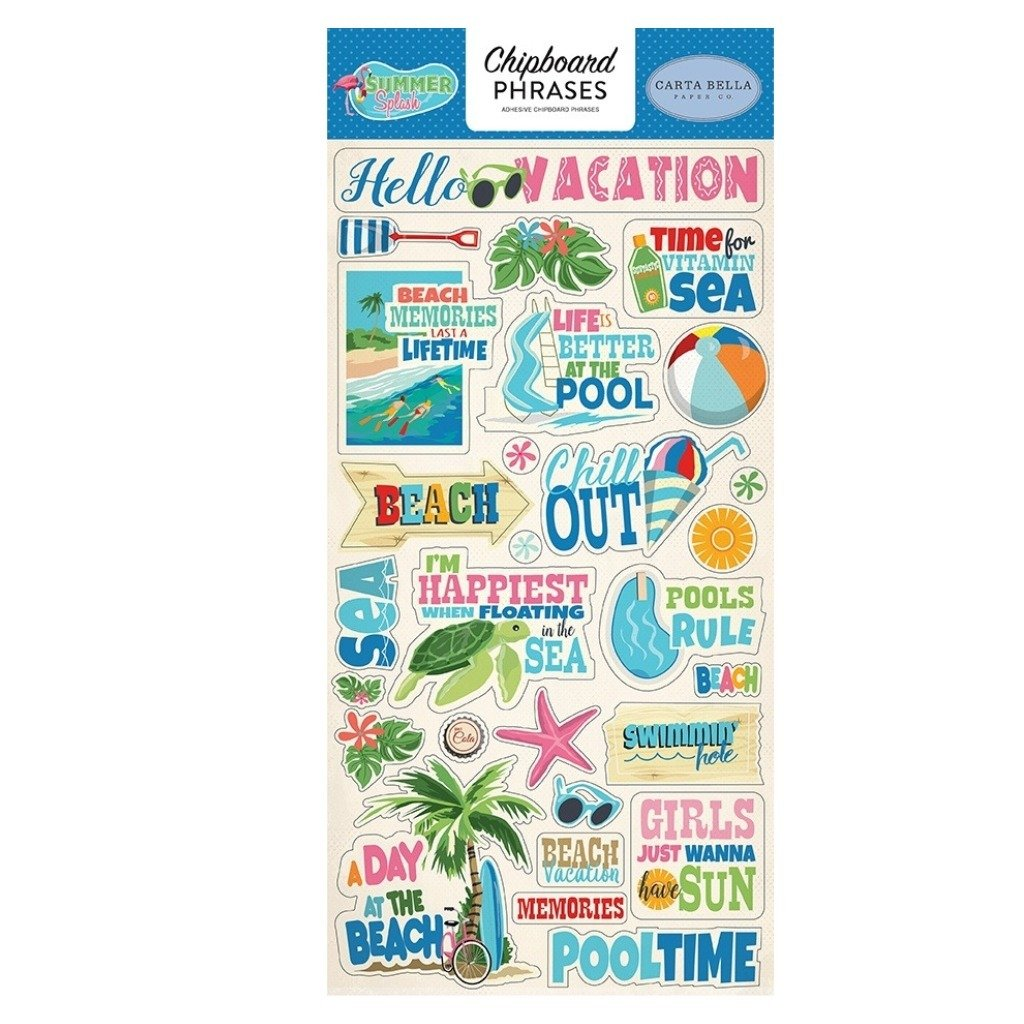 Chipboard Phrases Summer Splash