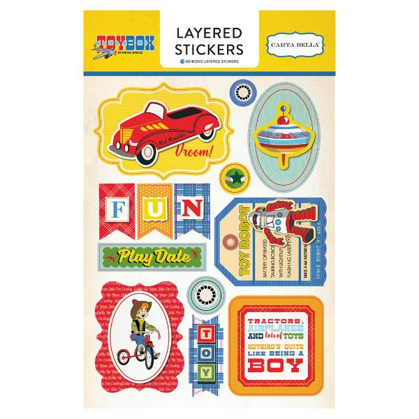 Layered Stickers  Toy Box