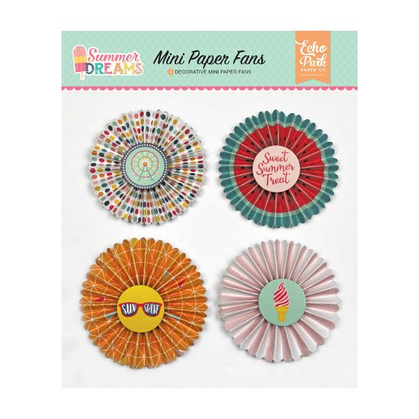 Mini Paper Fans Summer Dreams