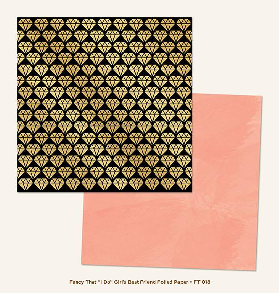 Papel   I do Girl´s Best Friend Gold Foiled  Fancy That