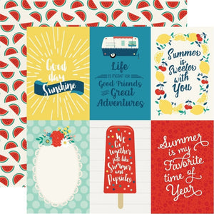 "Papel Journaling Cards 4""x 6"" Good Day Sunshine"