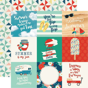 "Papel Journaling Cards 4""x 4"" Good Day Sunshine"