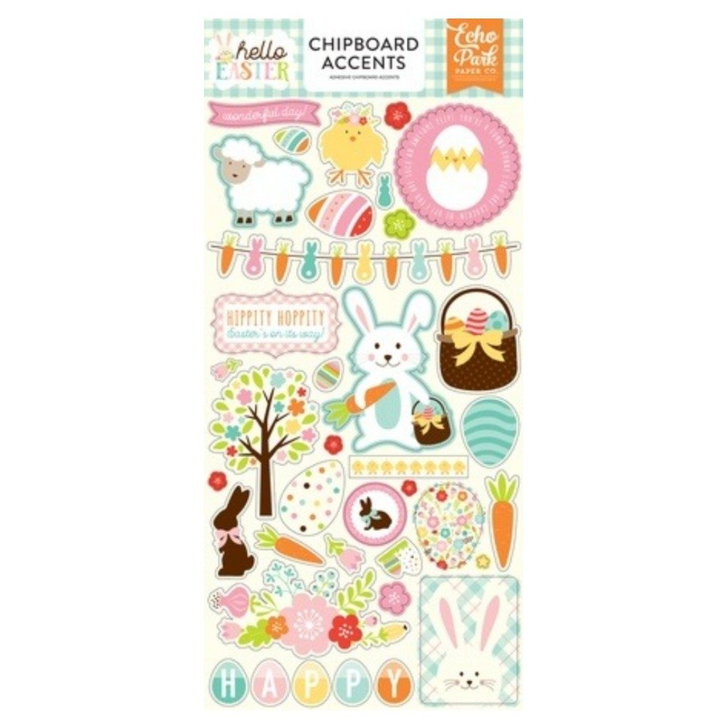 Hello Easter 6x13 Chipboard Accents