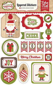 Layered Stickers I Love Christmas