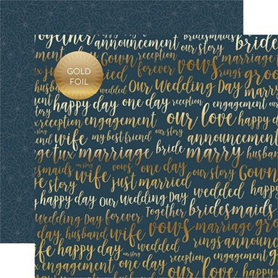 Papel Our Love -Foiled Just Married