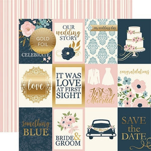 Papel 3x4 Journaling Cards -Foiled Just Married