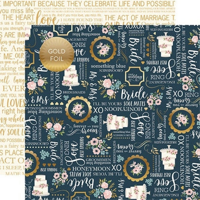 Papel Something Blue -Foiled Just Married