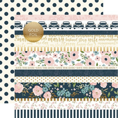 Papel Border Strips -Foiled Just Married