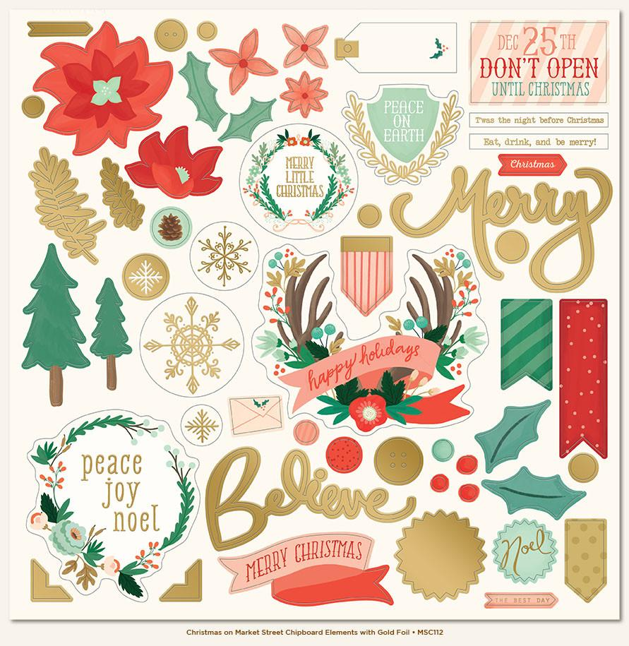 Chipboard Christmas on Market Street