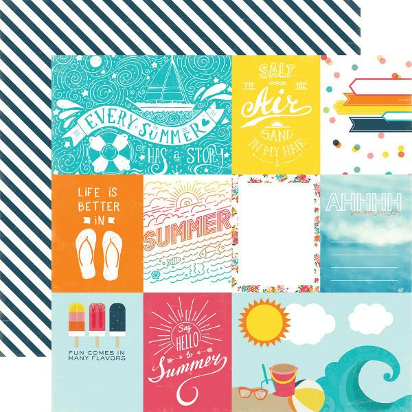 Papel Journaling Cards Paper Summer Party