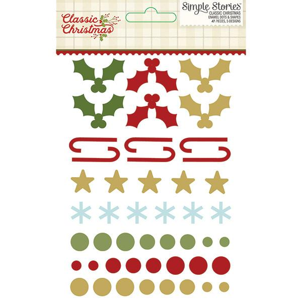 Enamel Dots & Shapes Classic Christmas